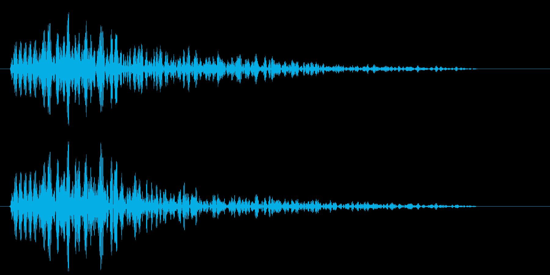 ピョン(何かが飛び出す音)の再生済みの波形