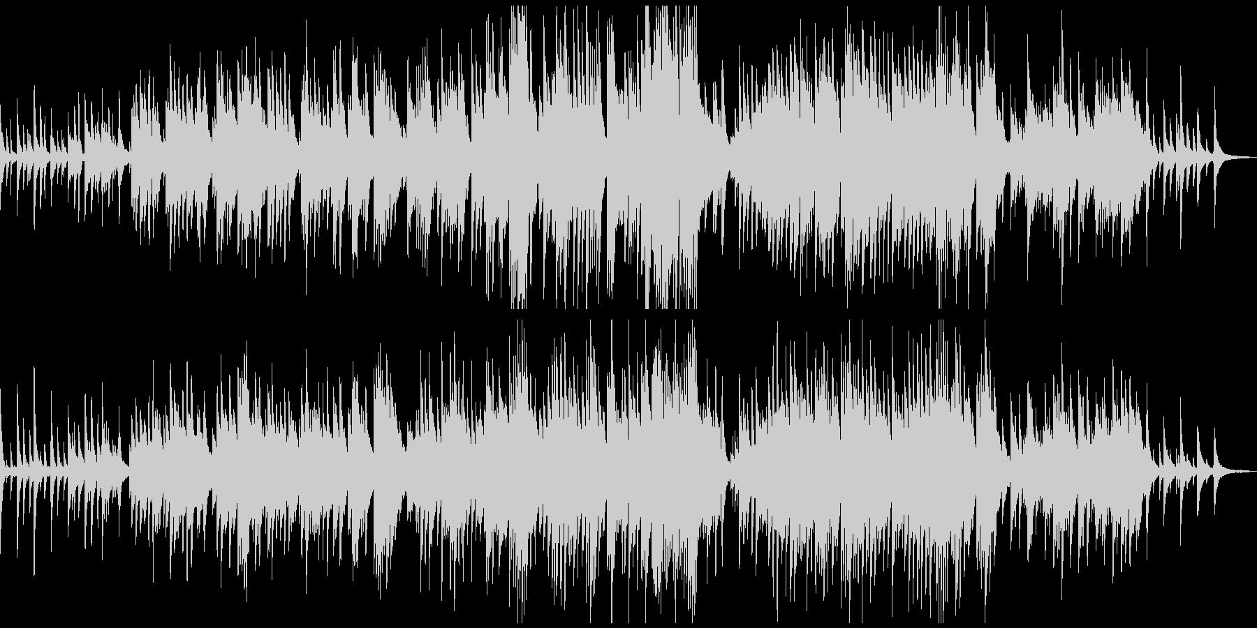 感動的な優しいピアノソロの未再生の波形