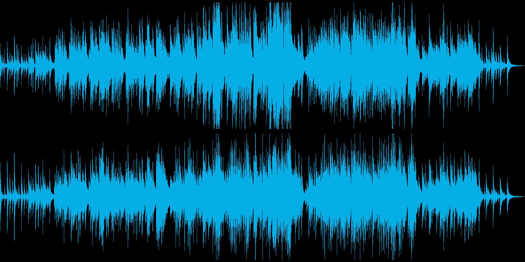 感動的な優しいピアノソロの再生済みの波形