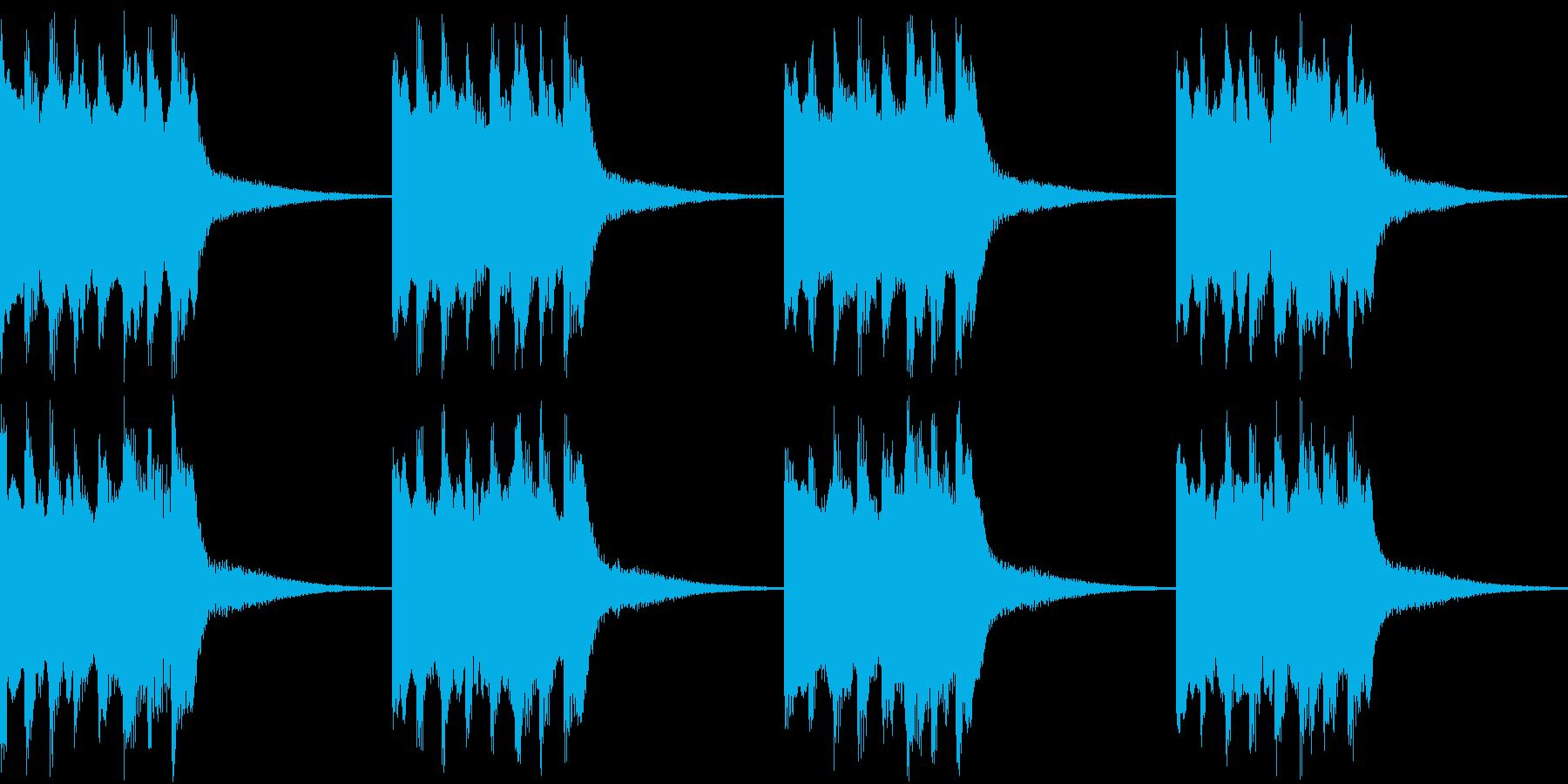 シンプル ベル 着信音 チャイム B11の再生済みの波形