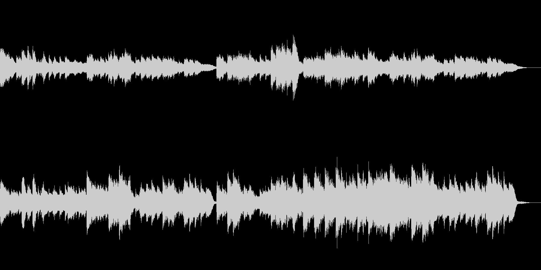 古いピアノ録音音源風BGMの未再生の波形