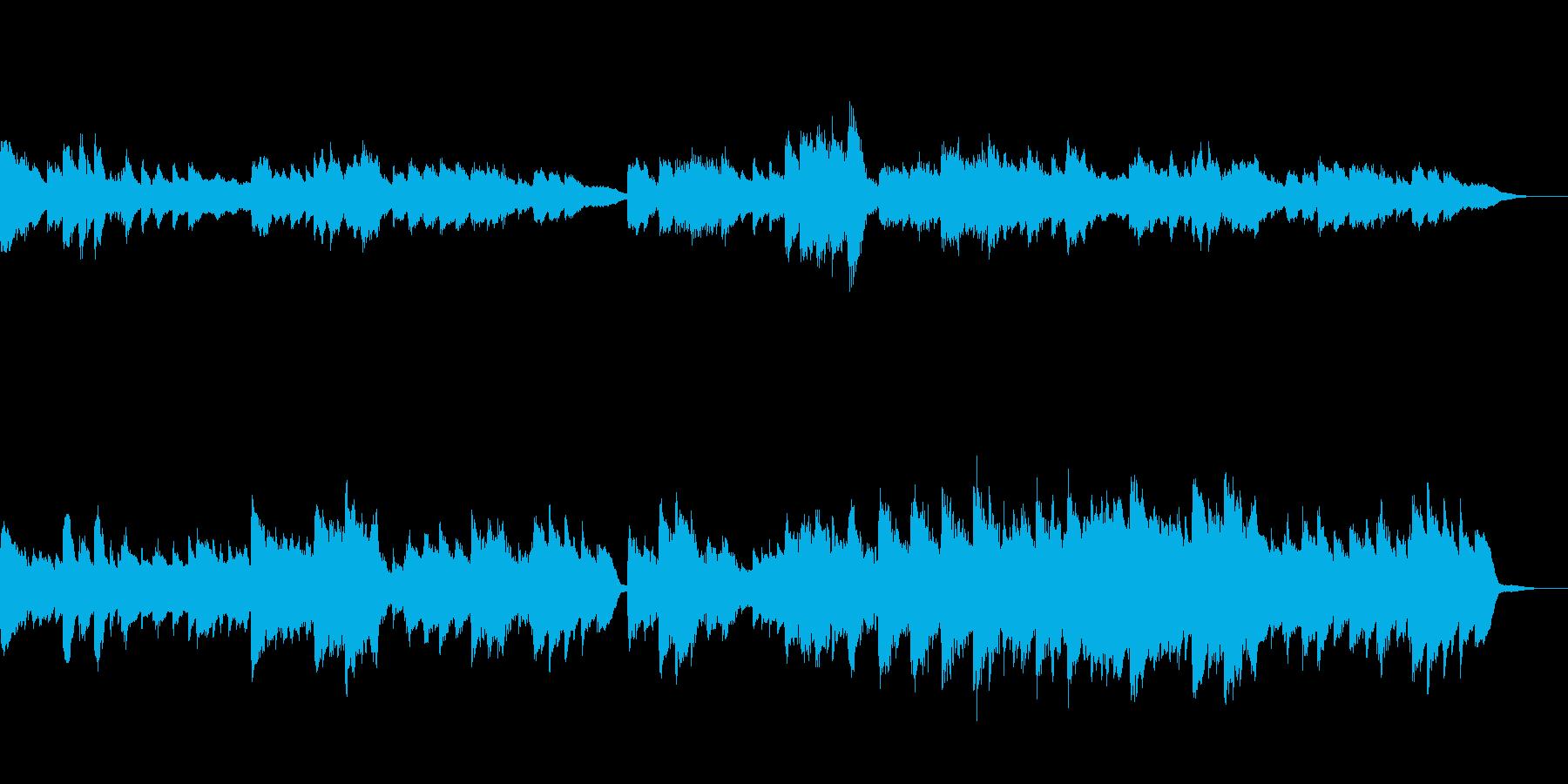 古いピアノ録音音源風BGMの再生済みの波形