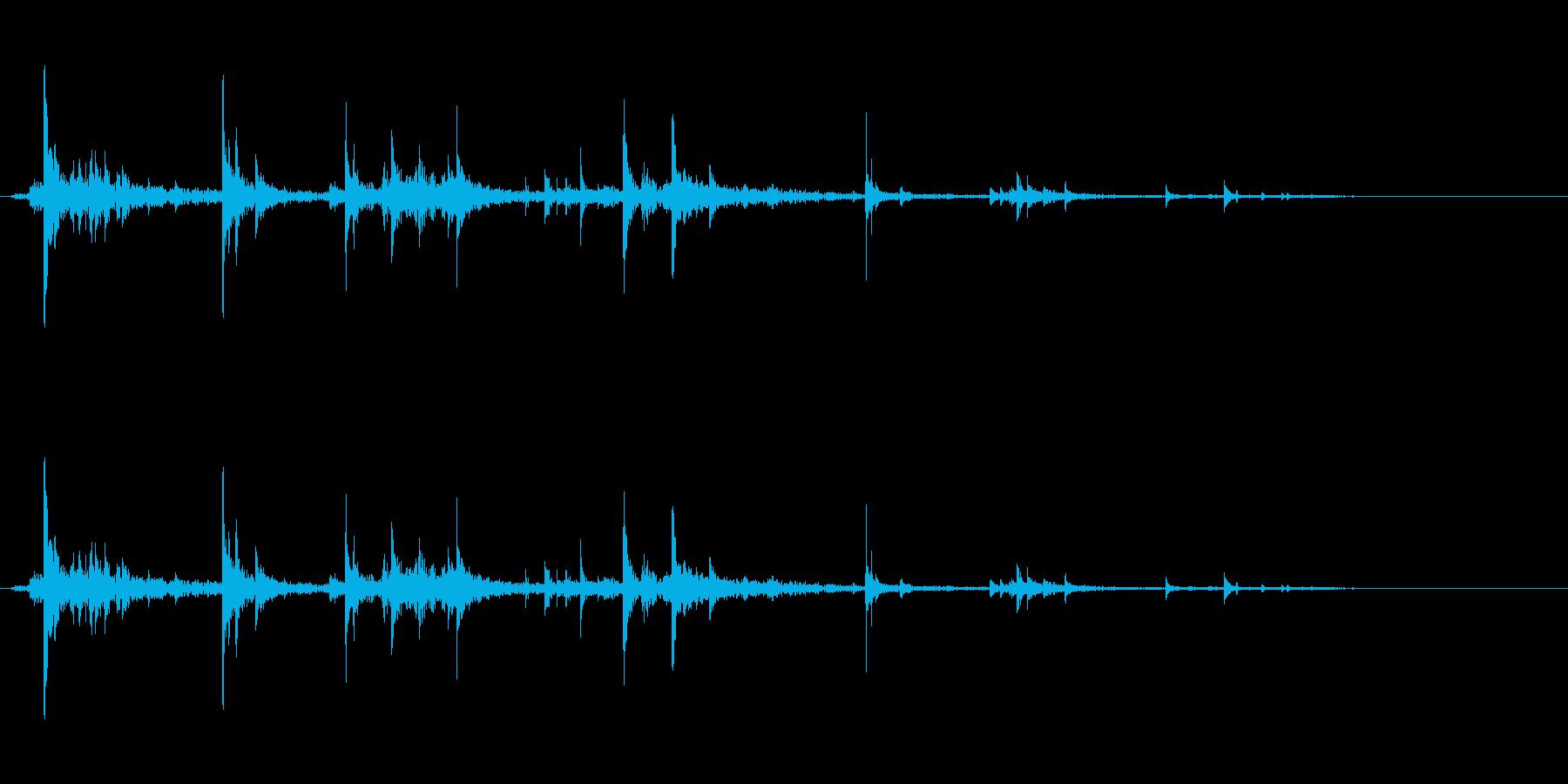 古びた歯車が回る音(ガラガラガラガラ)の再生済みの波形