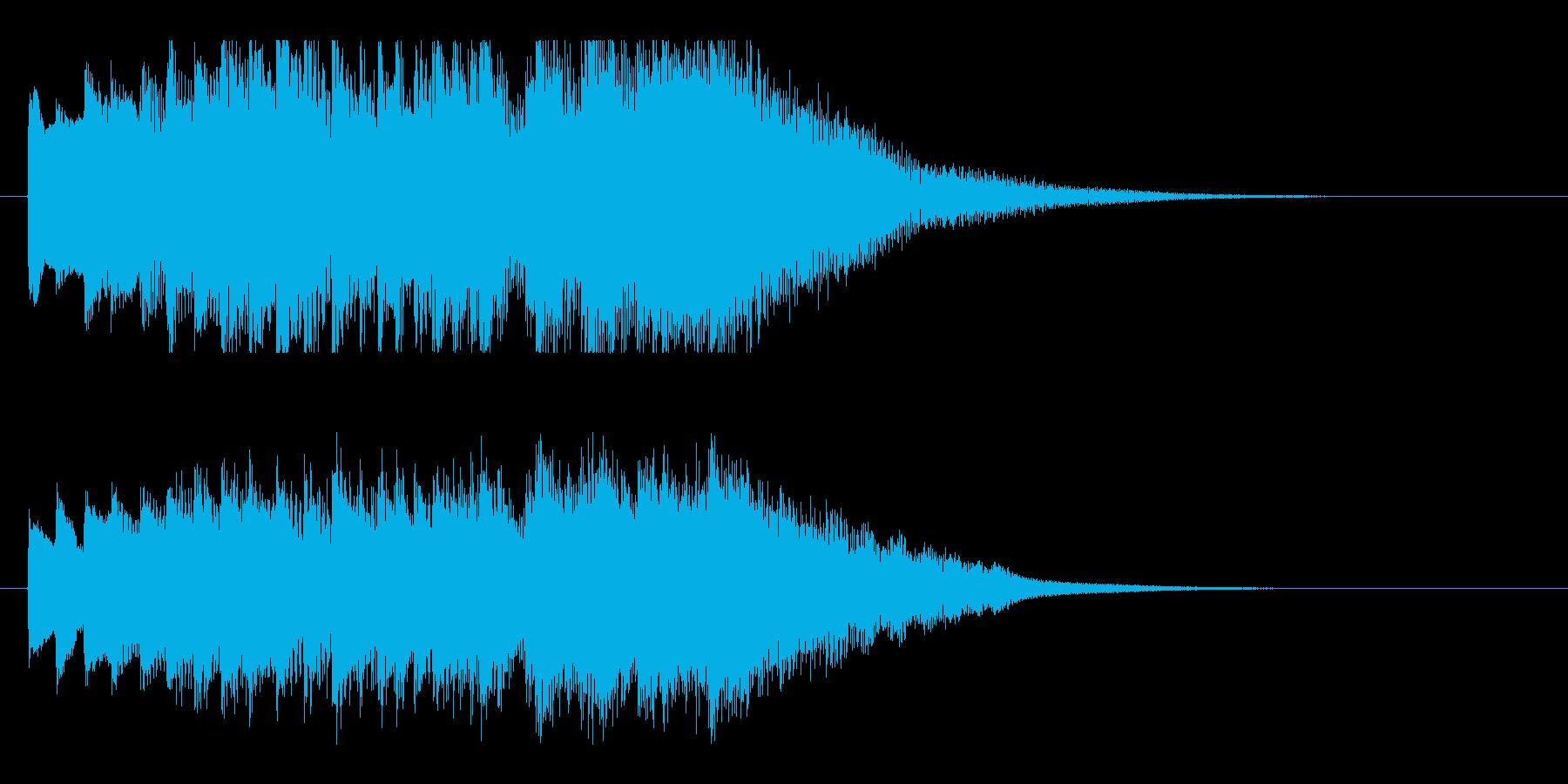 琴・尺八の情緒ある純和風ロゴの再生済みの波形
