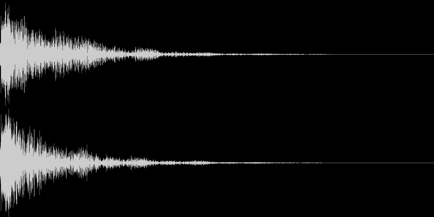 太鼓と鼓の和風インパクトジングル!02の未再生の波形