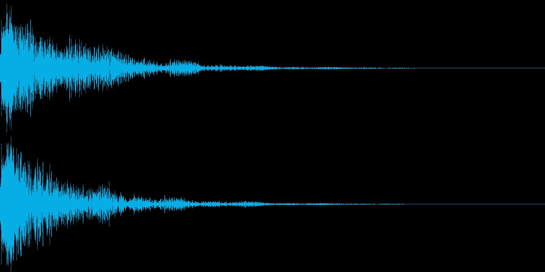 太鼓と鼓の和風インパクトジングル!02の再生済みの波形