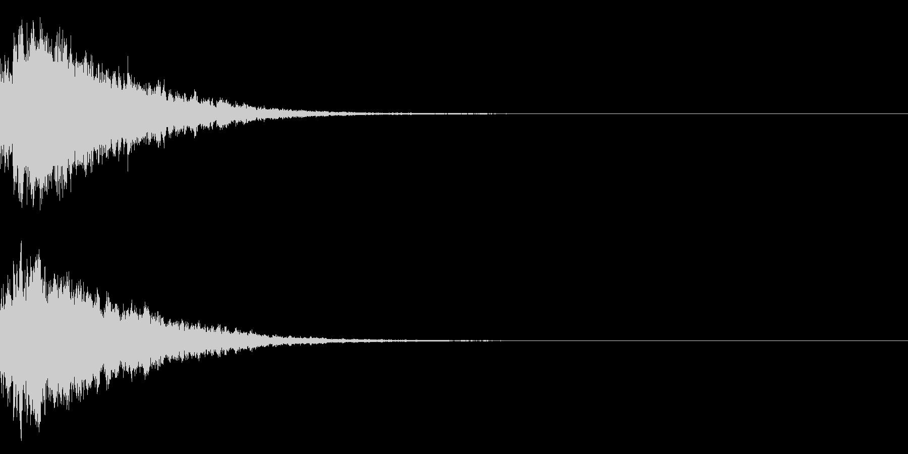 キラキラ光る☆テロップ音 ボタン音 04の未再生の波形