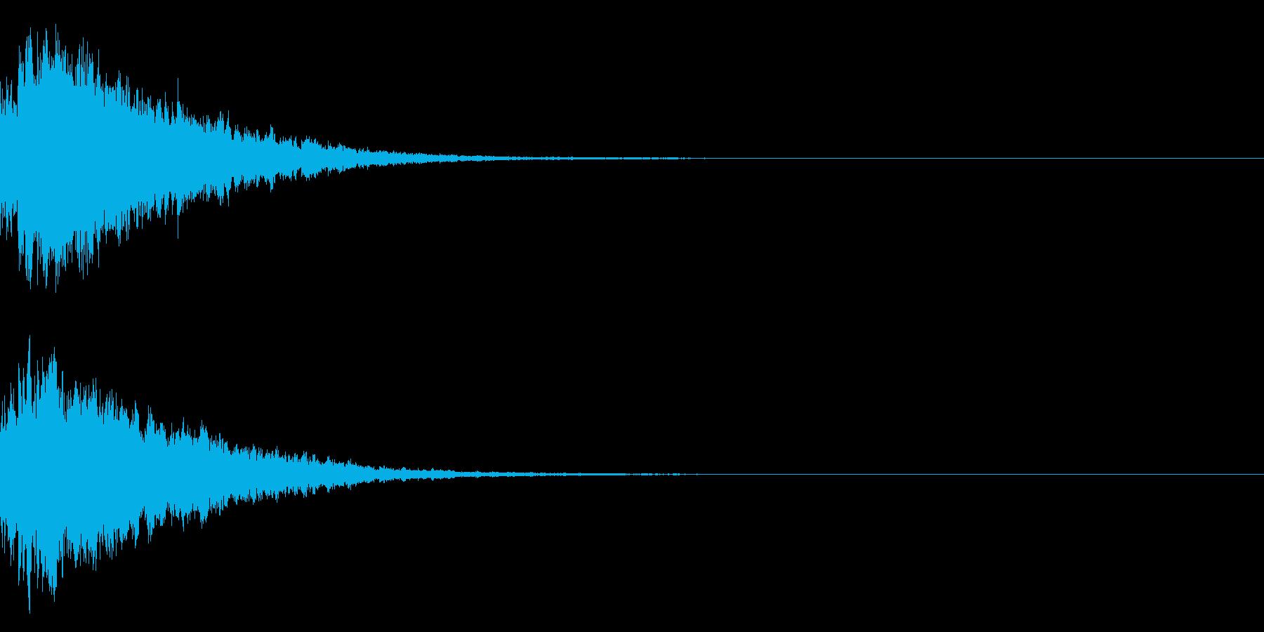 キラキラ光る☆テロップ音 ボタン音 04の再生済みの波形
