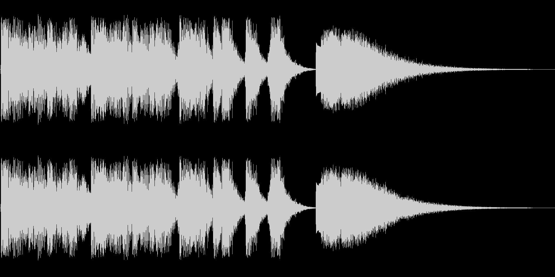 コミカルに登場(キラキラ)の未再生の波形