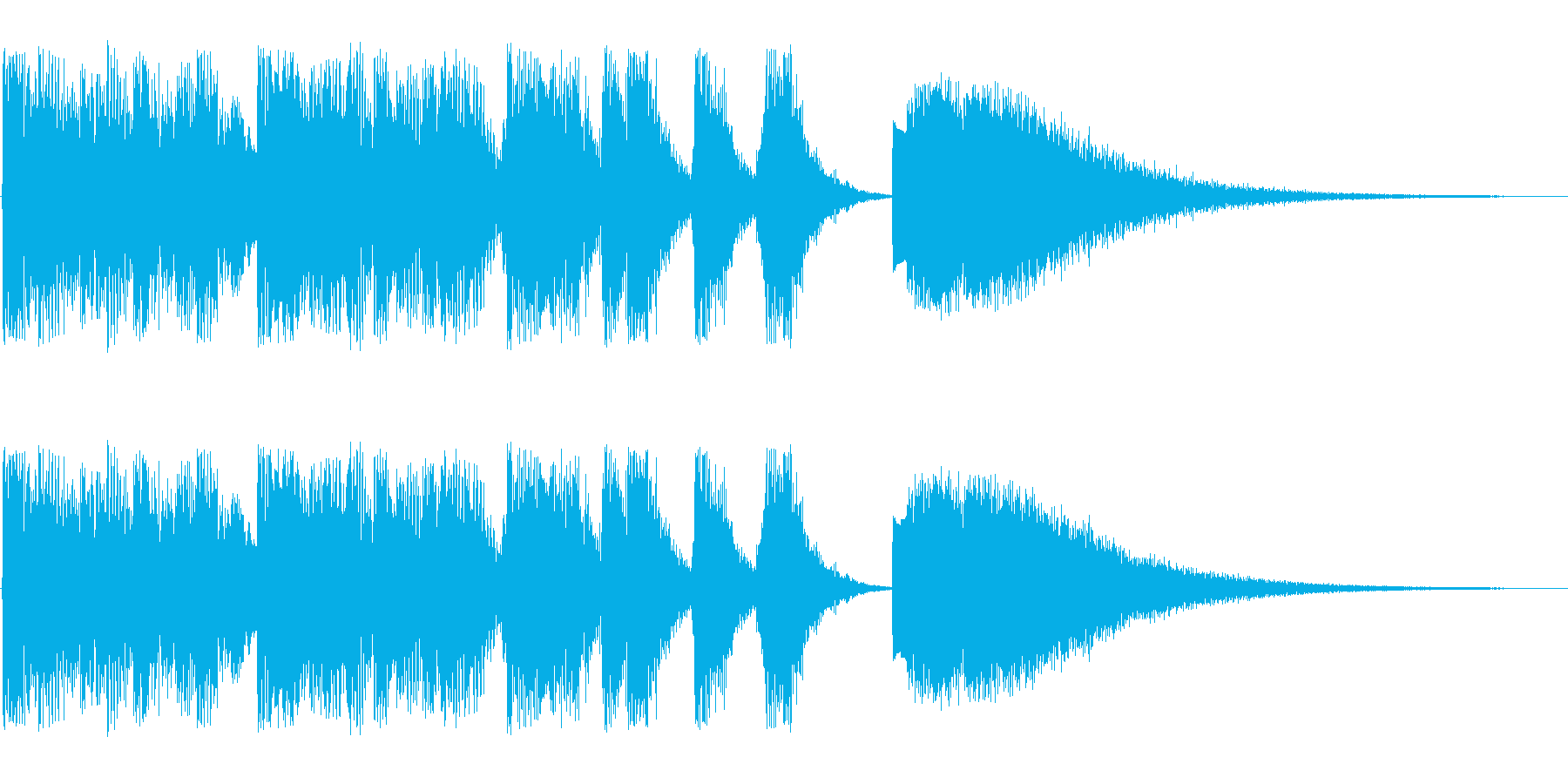 コミカルに登場(キラキラ)の再生済みの波形