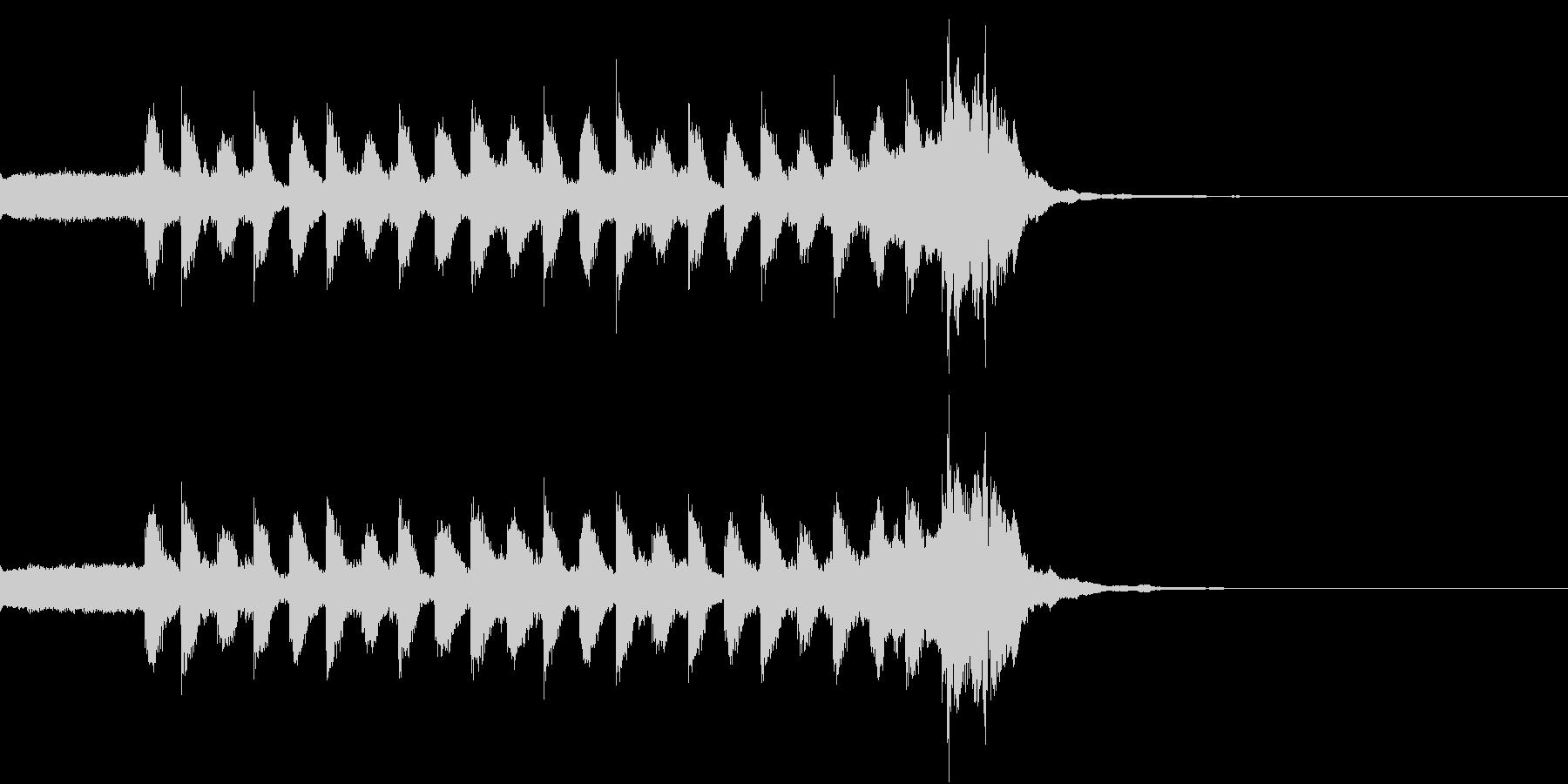 軽快で疾走感があるシンセ曲の未再生の波形