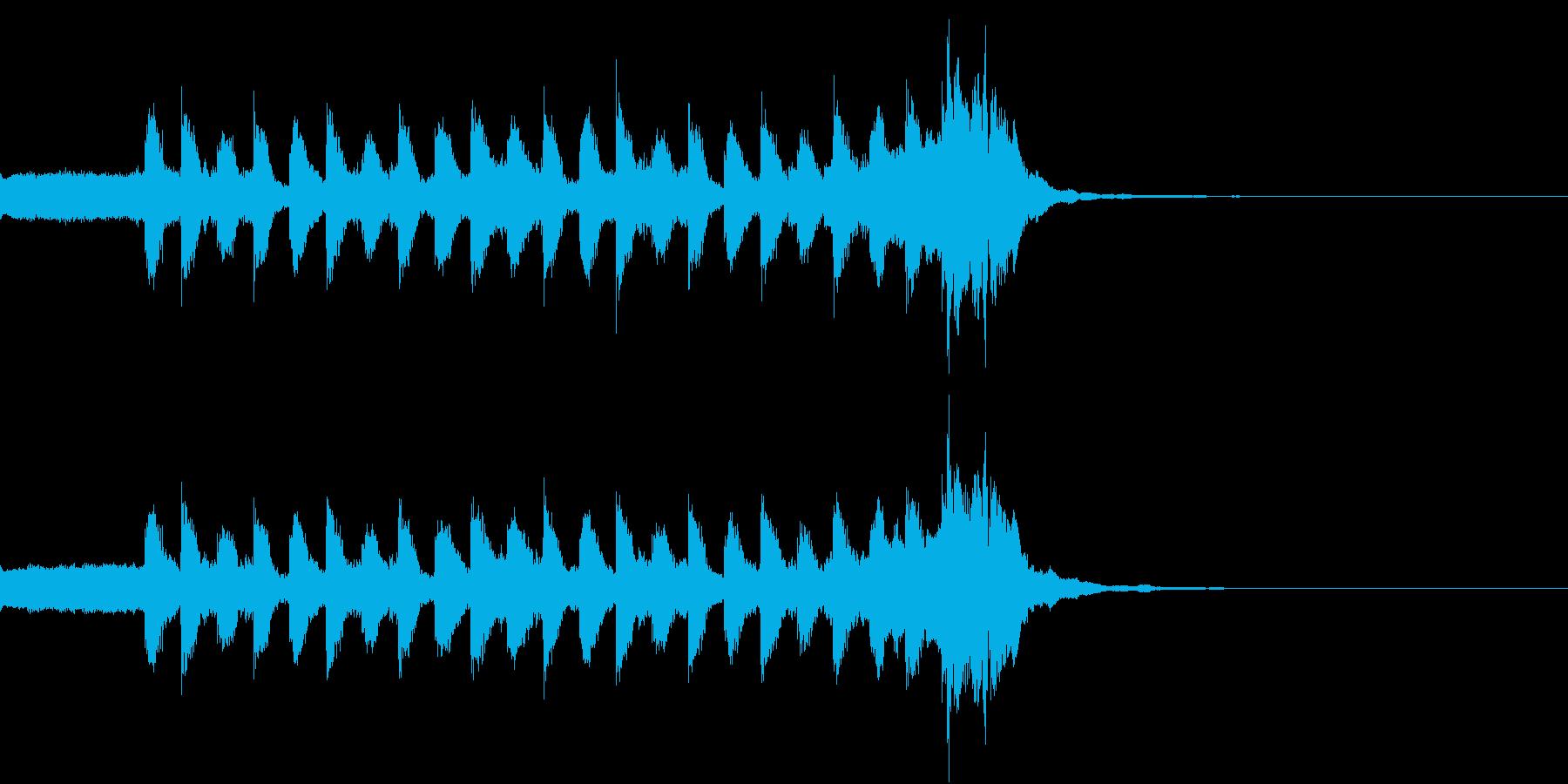 軽快で疾走感があるシンセ曲の再生済みの波形