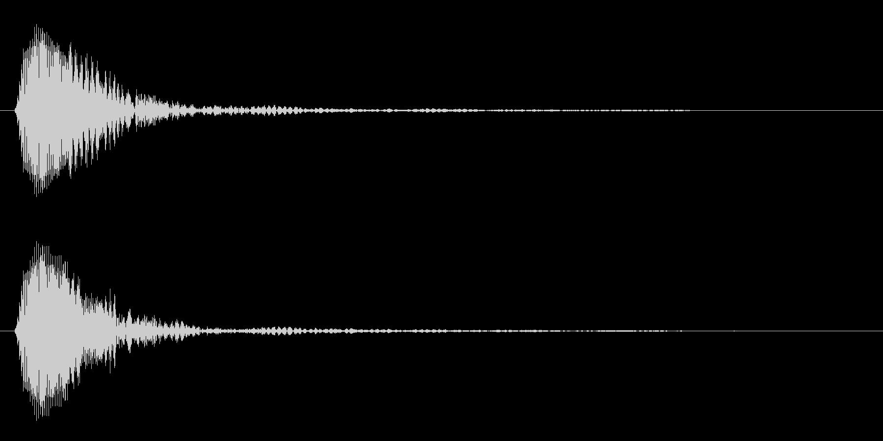近未来的なクリック音の未再生の波形