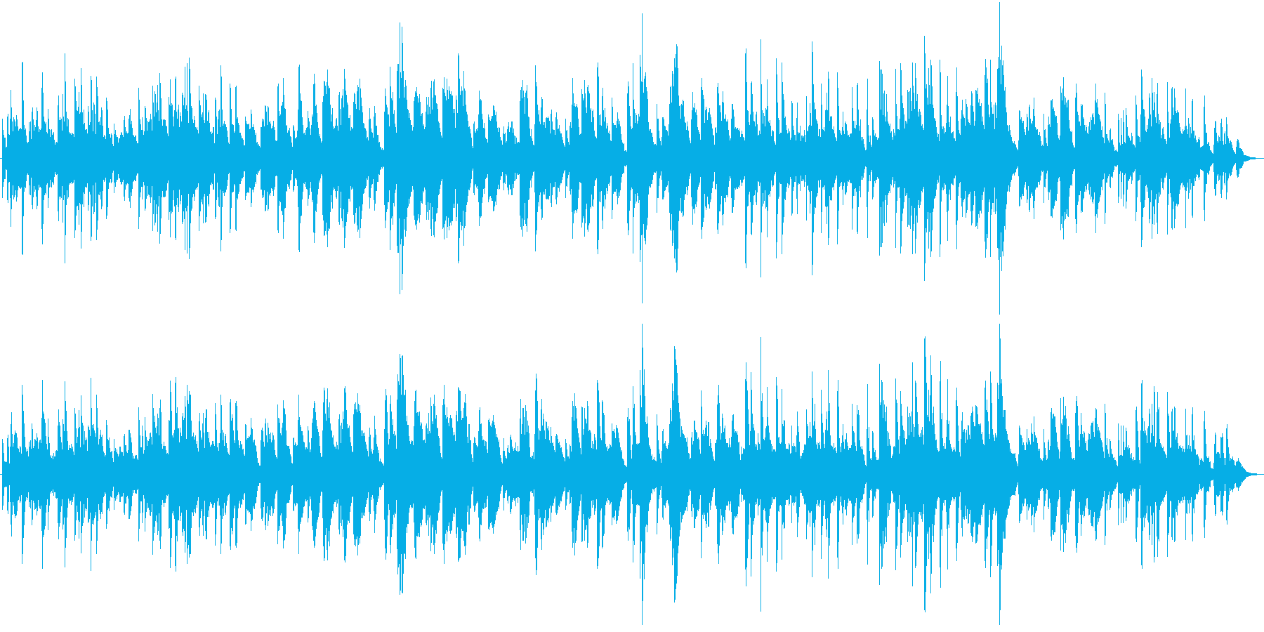ピアノ アメージンググレイス クリスマスの再生済みの波形