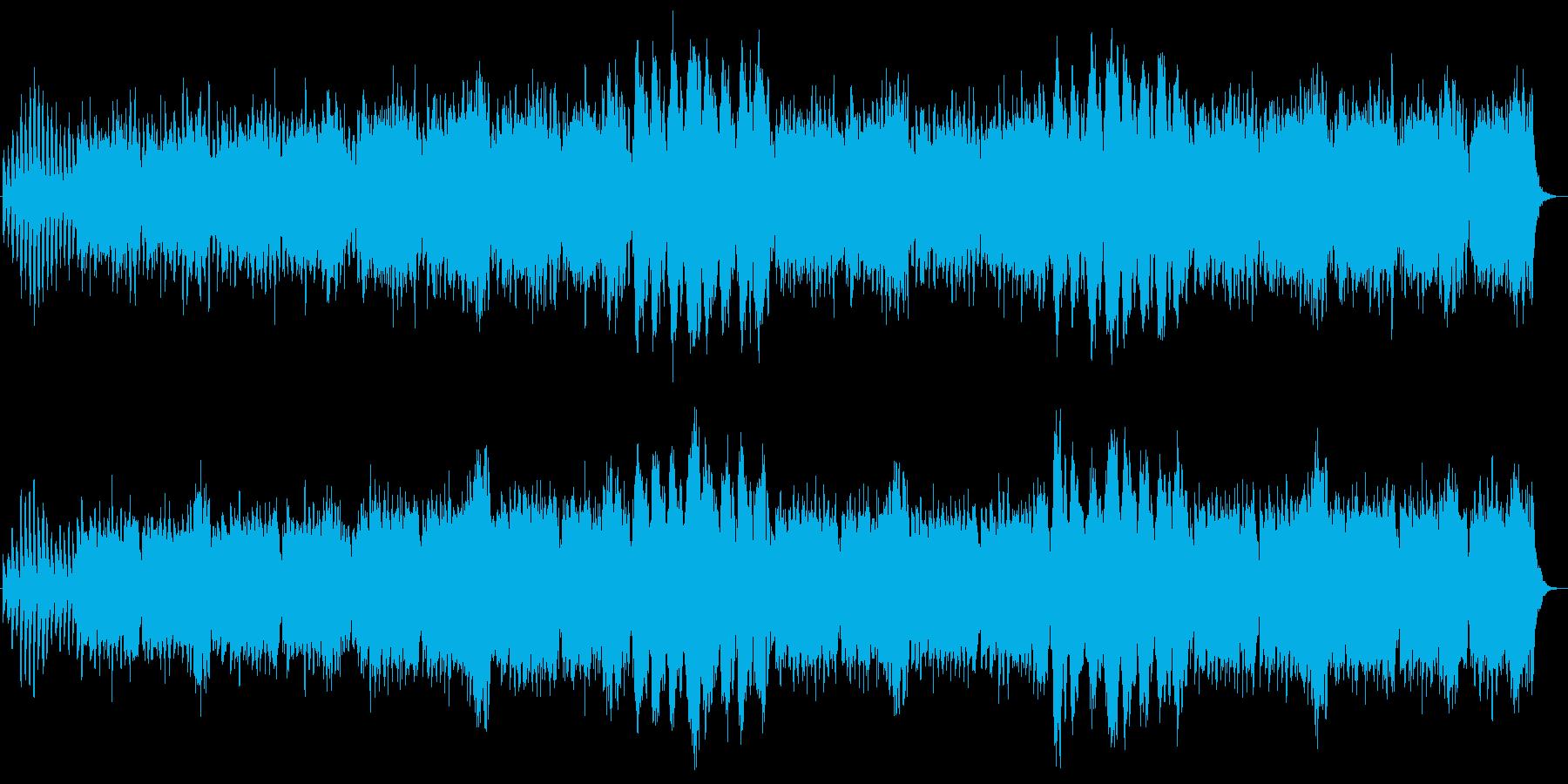 宇宙的な広がりのある曲、さわやか感もありの再生済みの波形