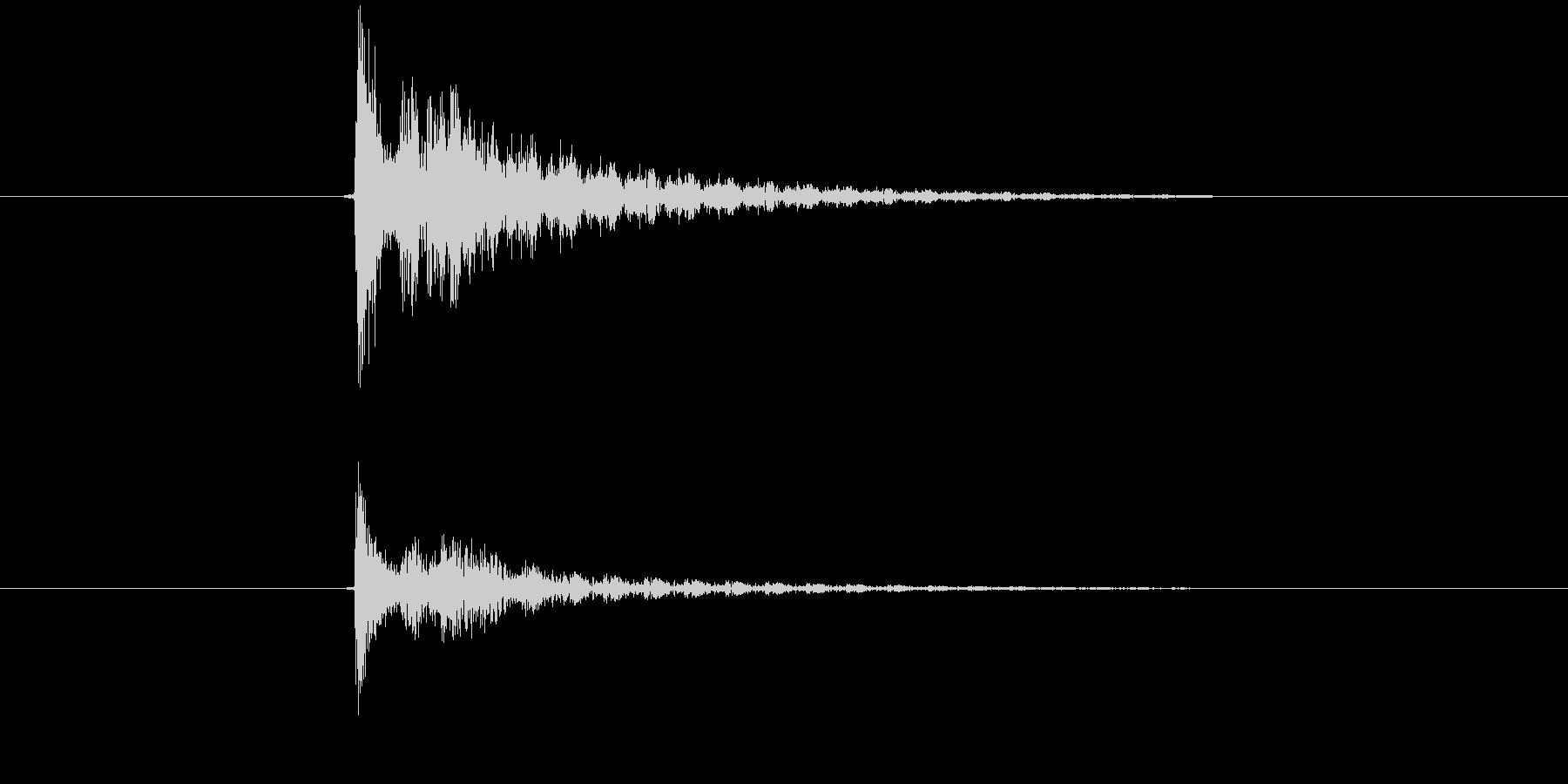 ダメージ、ミス、キャンセル 電子音の未再生の波形