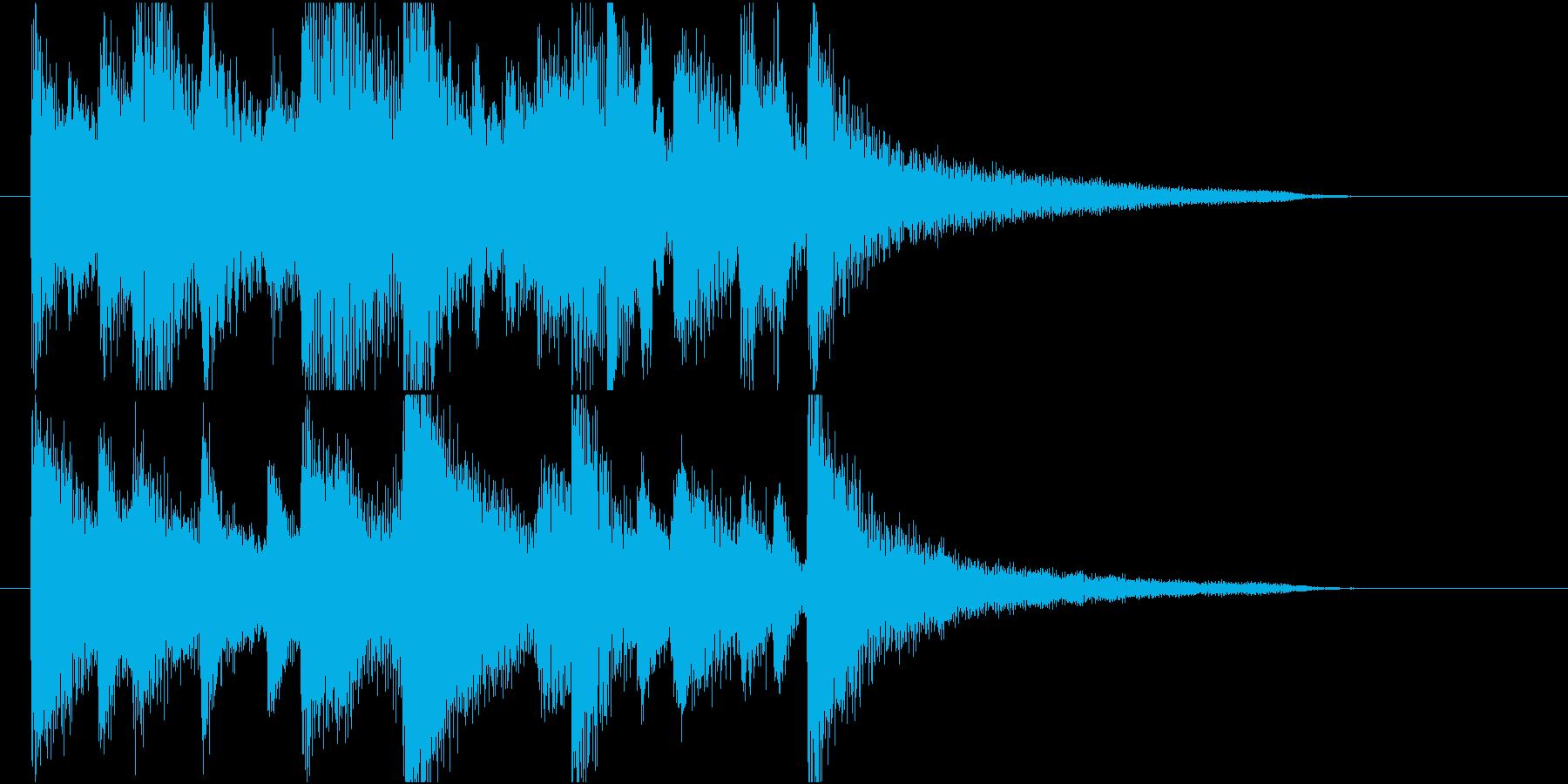 【ジングル】ピアノとギターのメロウな曲の再生済みの波形