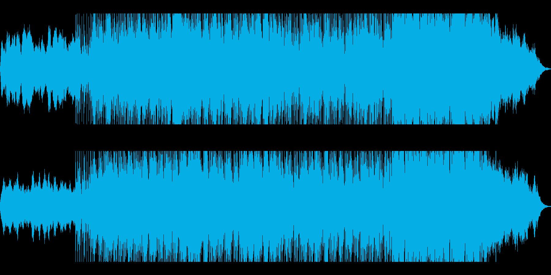 和の雰囲気が漂うバトル系のBGMの再生済みの波形