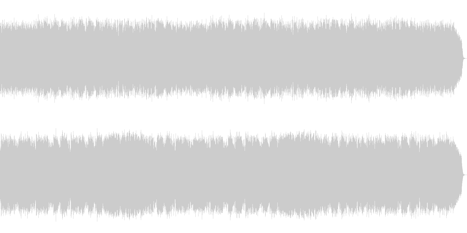 シャフルをホルンが刻みトロンボーンが歌うの未再生の波形