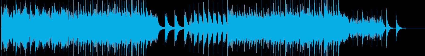 静かでいて力強く切ないピアノ曲の再生済みの波形