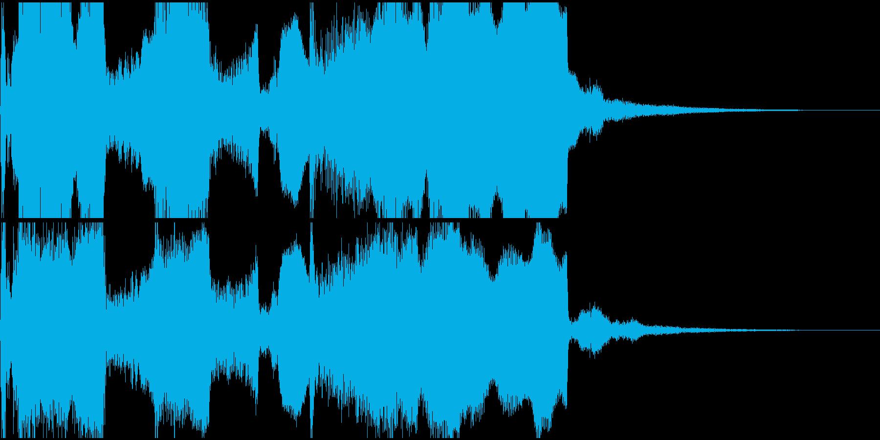 尺八の和風ジングル2の再生済みの波形