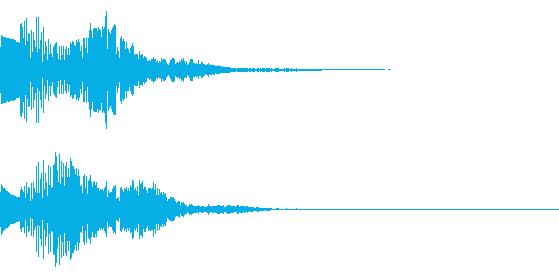 お知らせ音01(ベル系)の再生済みの波形