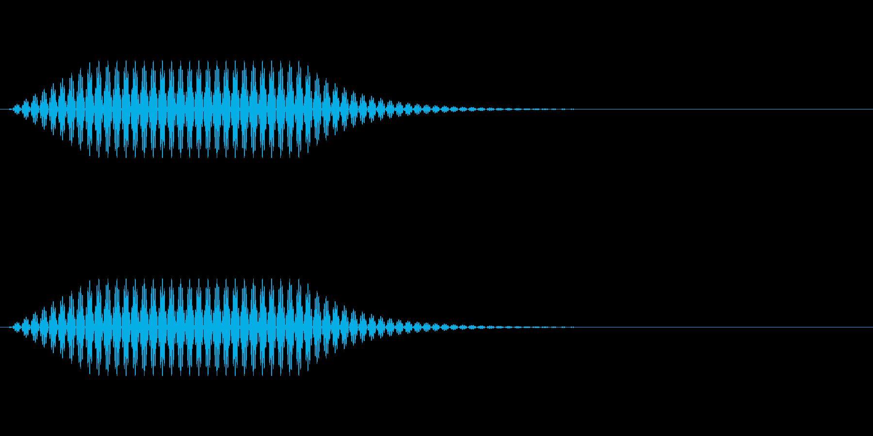 シンプルな決定音:ゲームやアプリなどにの再生済みの波形