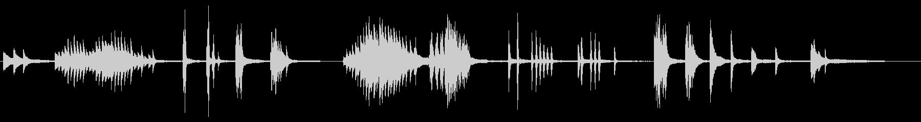 印象派風のイメージBGMの未再生の波形