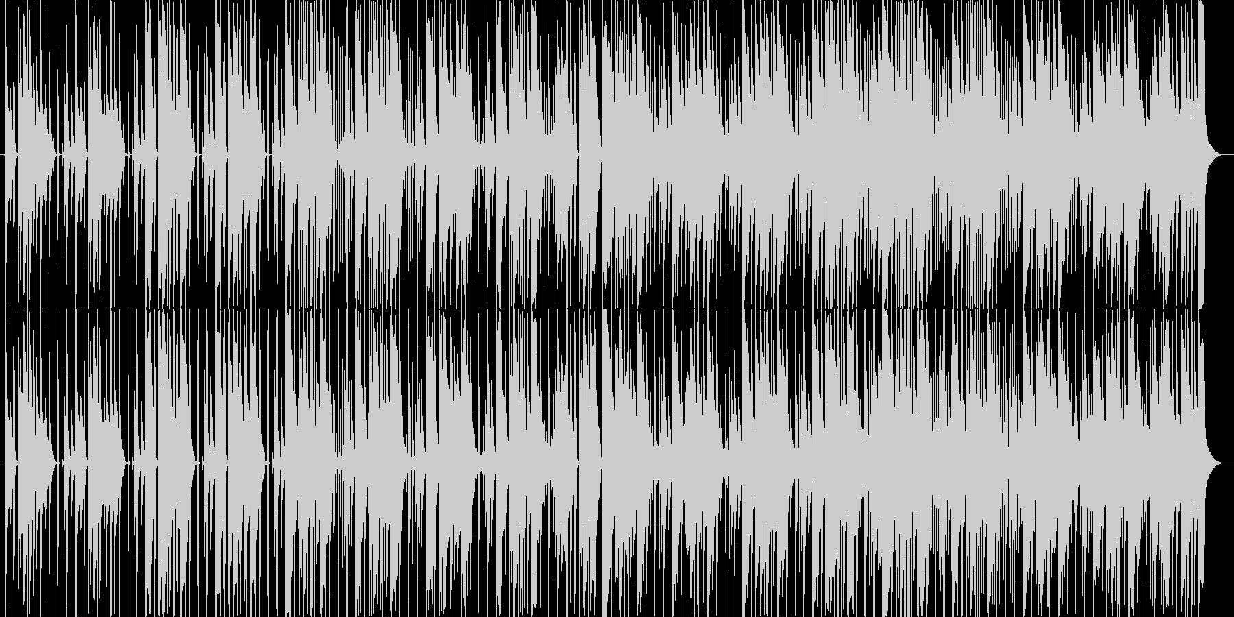 三味線と琴の約1分間の力強い曲の未再生の波形