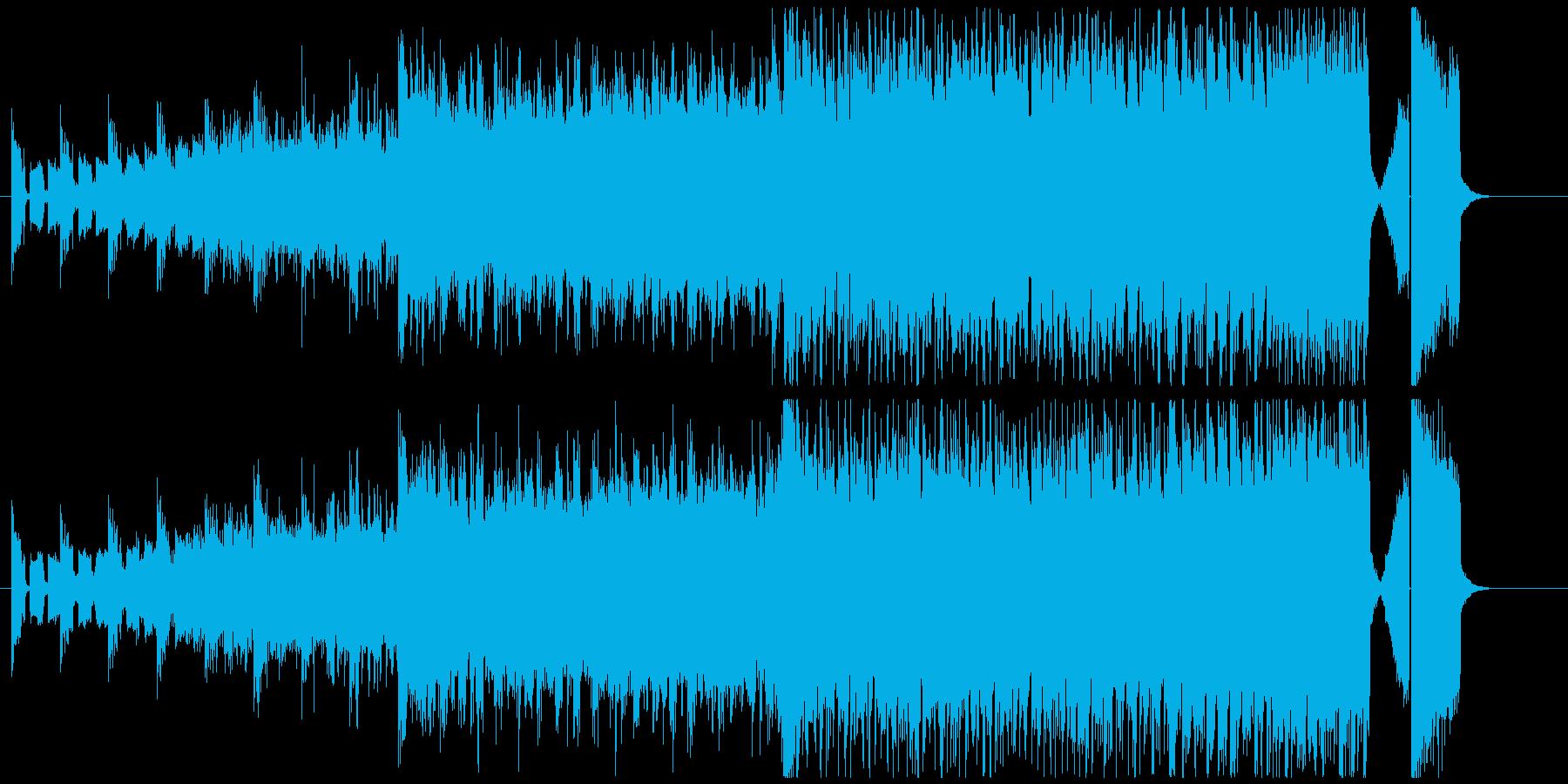 カーチェイス、戦闘シーンのBGMの再生済みの波形
