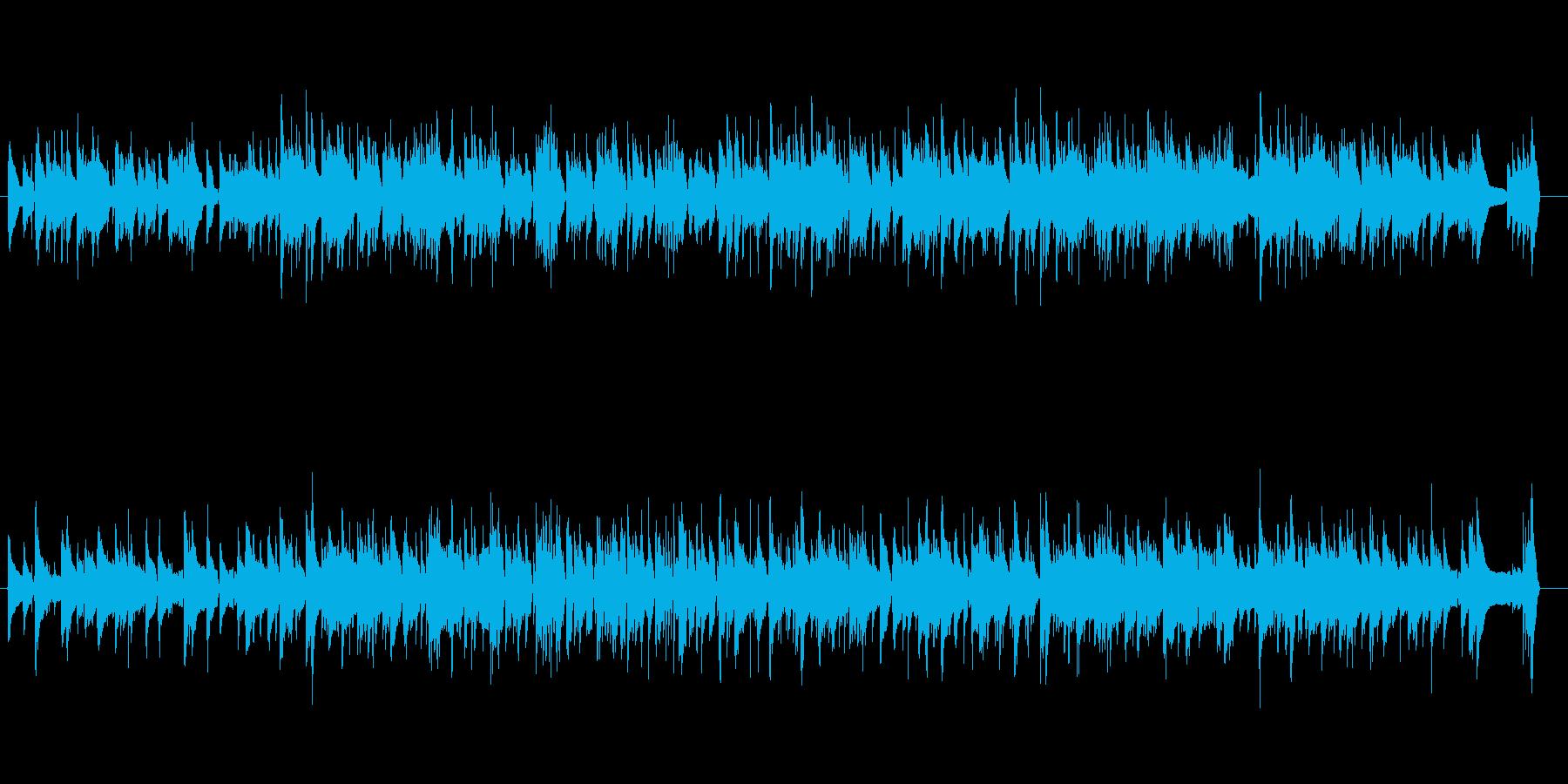 ほのぼのとした日常アコースティックの再生済みの波形