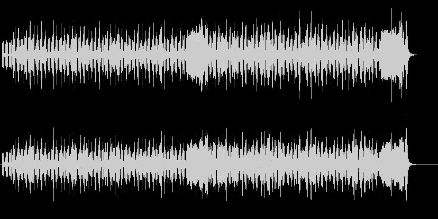 テクノロジカルなポップ・メロディーの未再生の波形