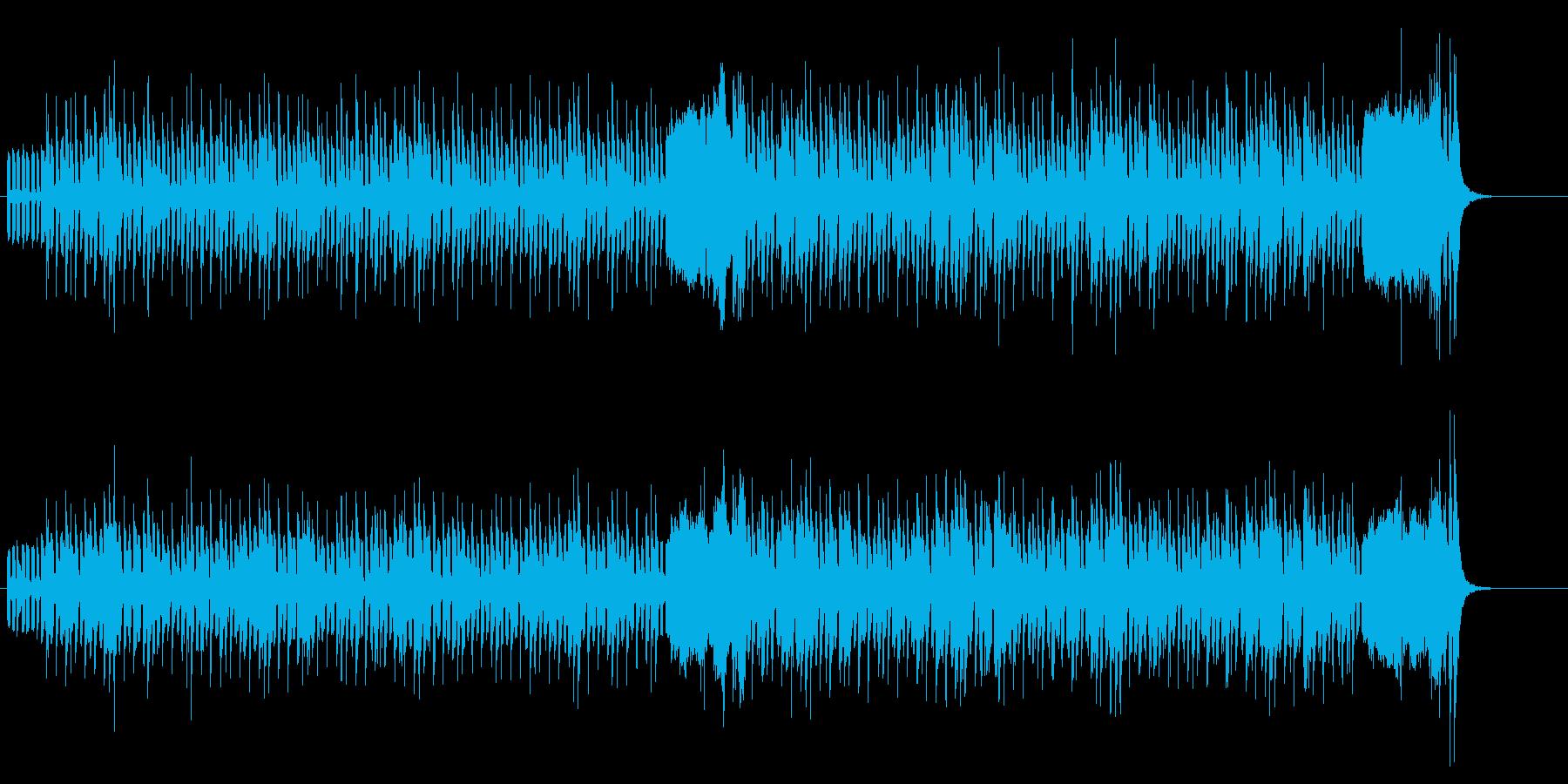 テクノロジカルなポップ・メロディーの再生済みの波形