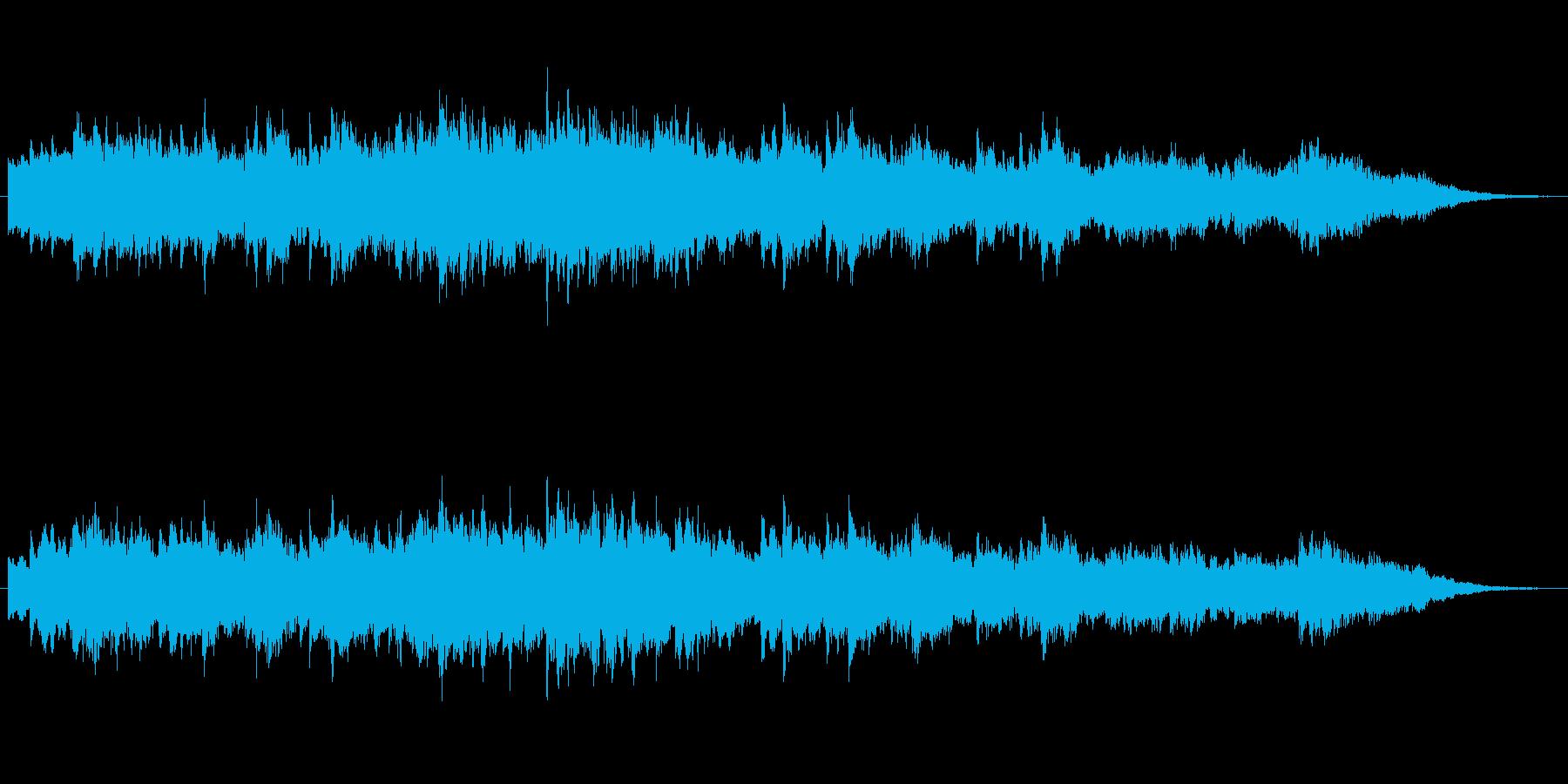 シンセによるキラキしたファンタジーの世界の再生済みの波形
