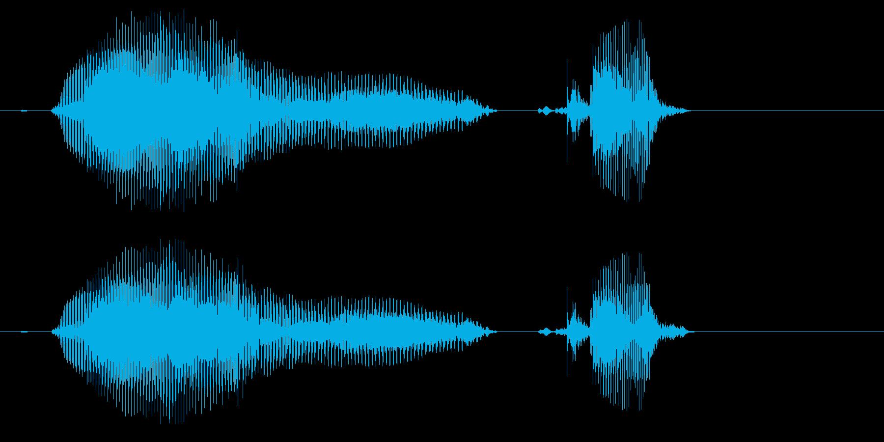 なんじゃ?(2歳児の生声です)の再生済みの波形