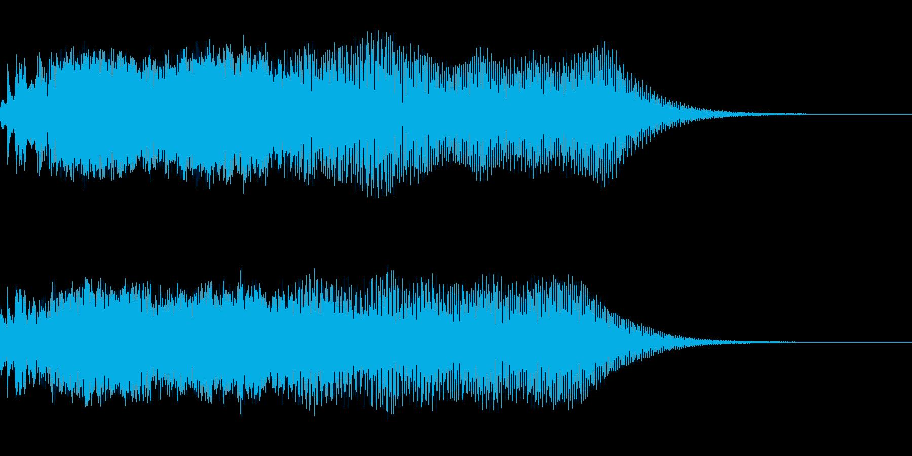 近未来を想像するノイジーな印象のサウンドの再生済みの波形