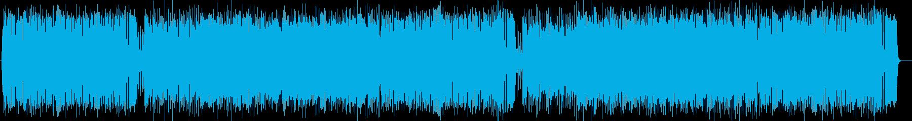 アップテンポなシンセポップスの再生済みの波形
