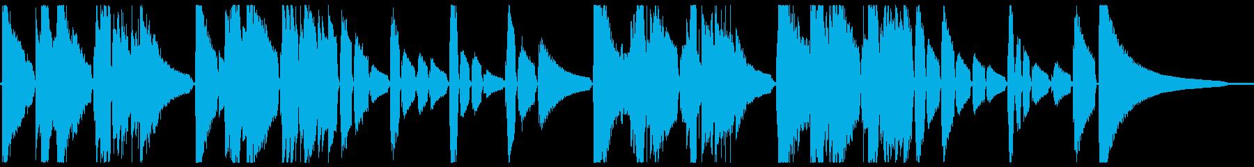 現代音楽風なギター小作品の再生済みの波形