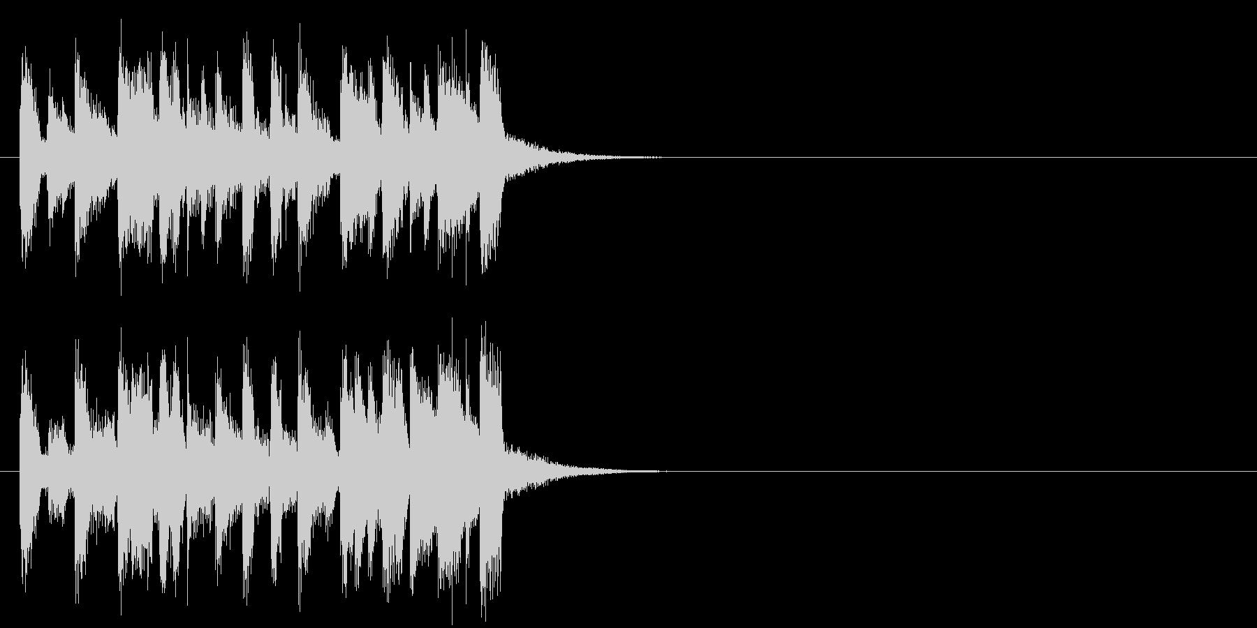 キューアタック風ポップのジングルの未再生の波形