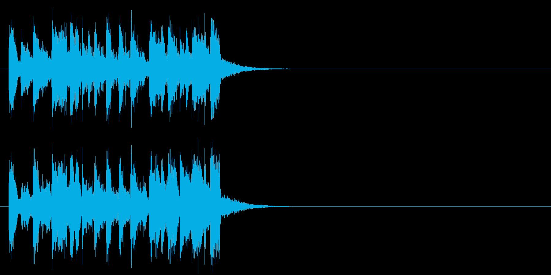 キューアタック風ポップのジングルの再生済みの波形
