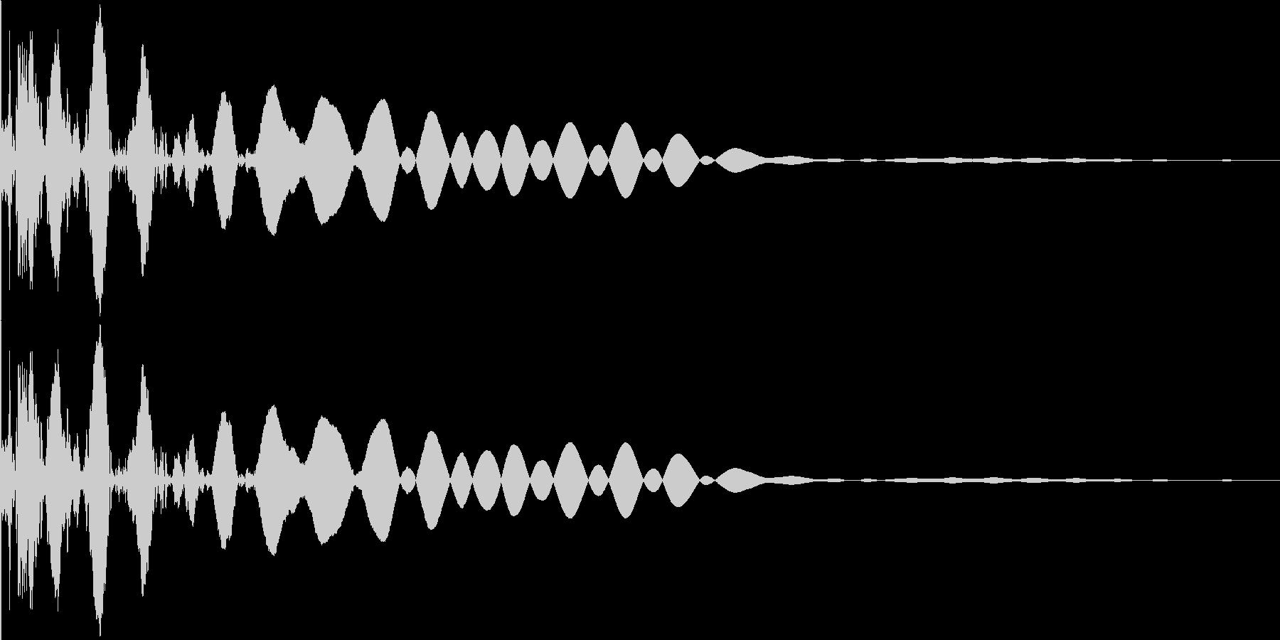 ボールがバウンドするイメージの未再生の波形