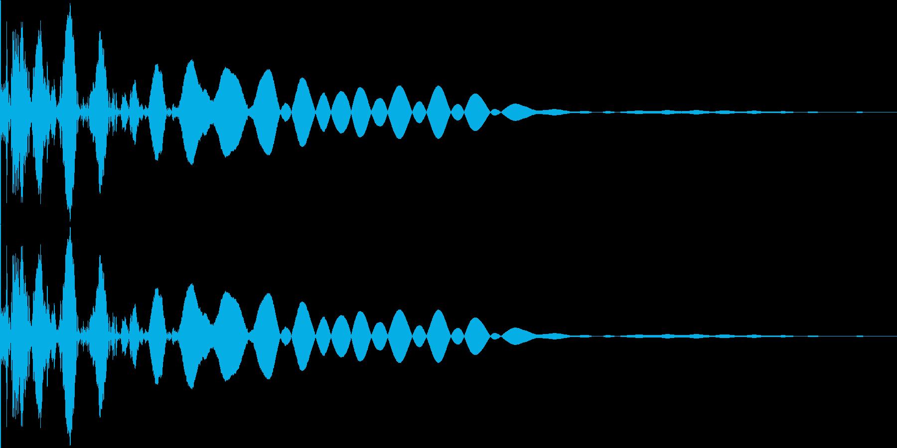 ボールがバウンドするイメージの再生済みの波形