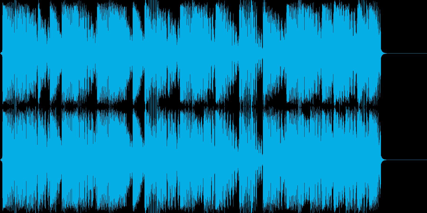 音源作成用のクラブ系ループ音源の再生済みの波形