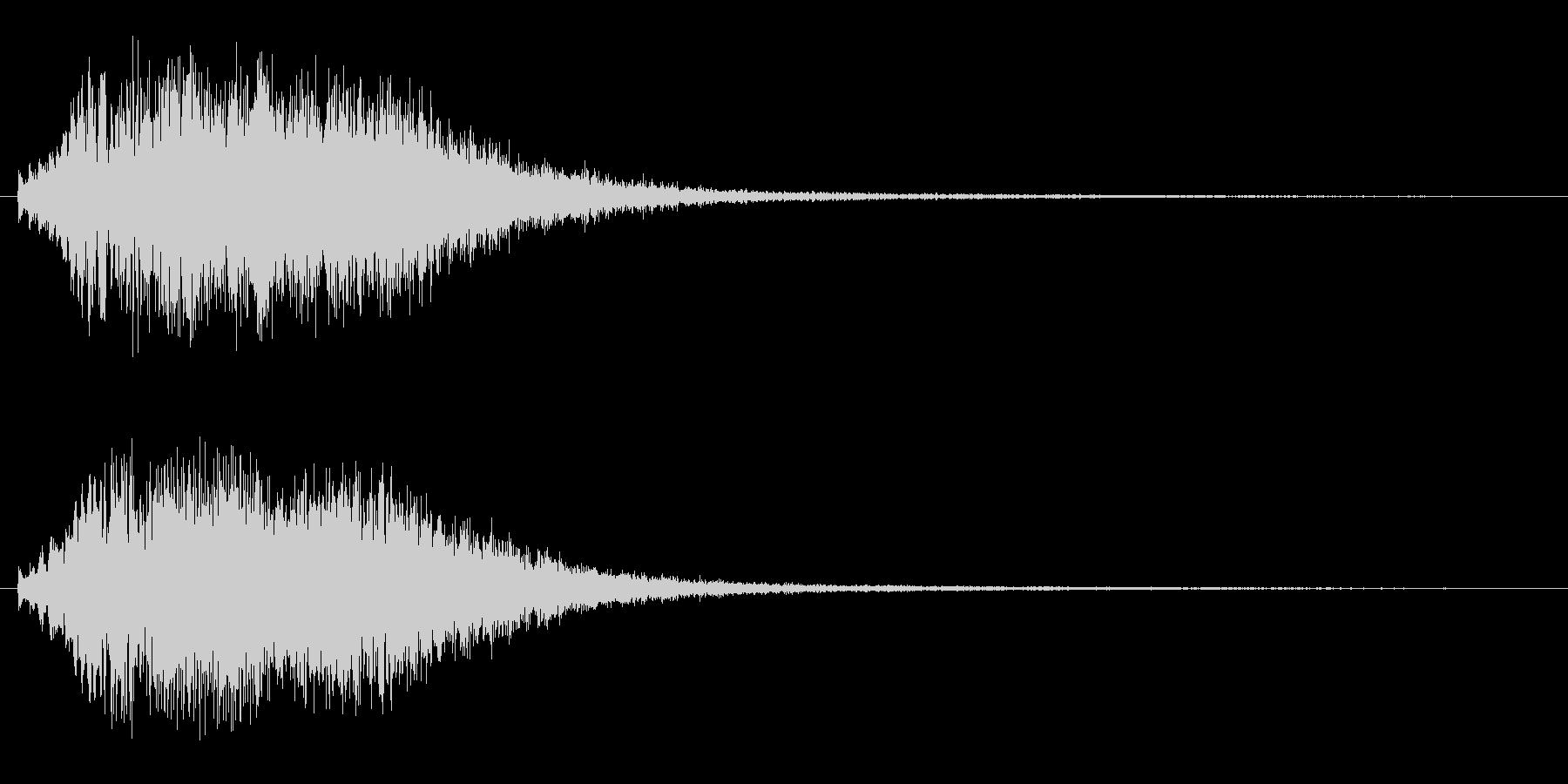 ピロピロピン(アップ)の未再生の波形
