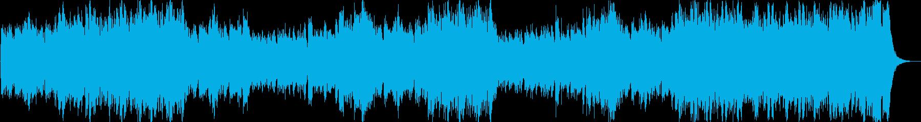 ファンファーレが繰り返される豪華なマーチの再生済みの波形
