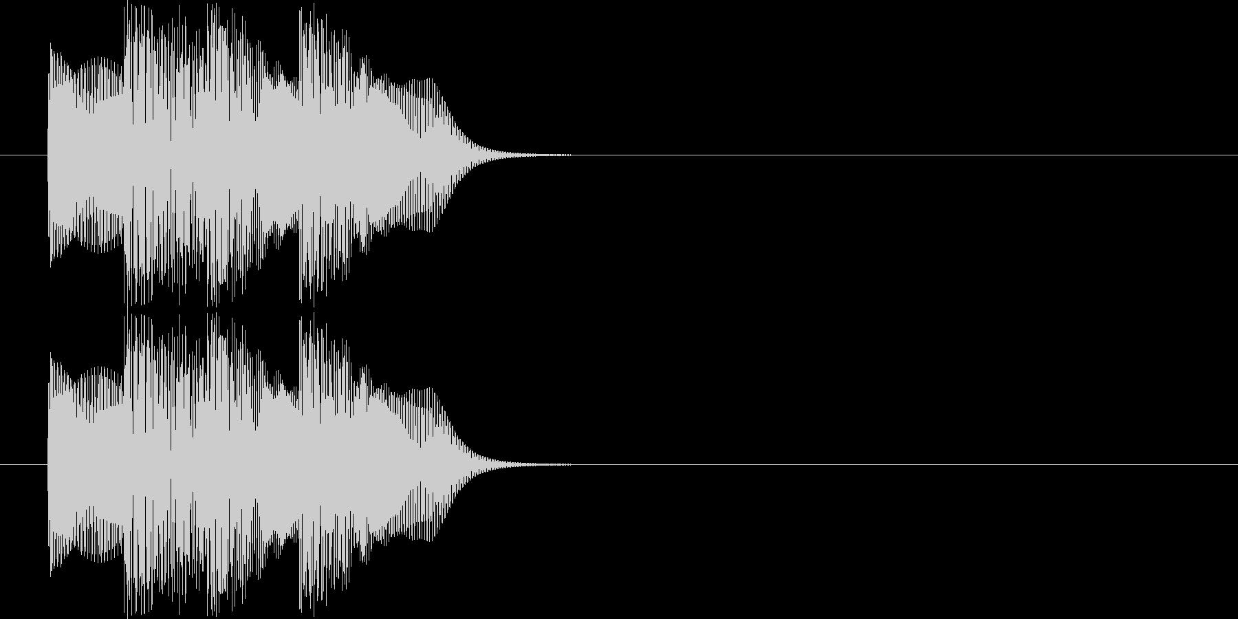 ポロロン(電子音)の未再生の波形