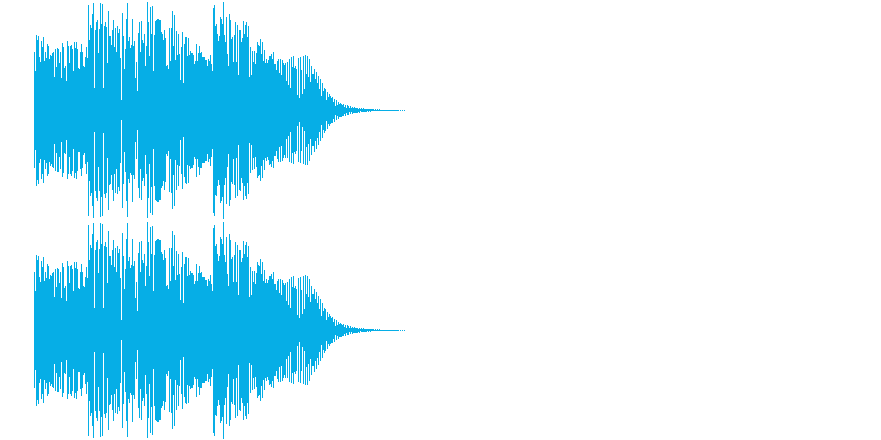 ポロロン(電子音)の再生済みの波形