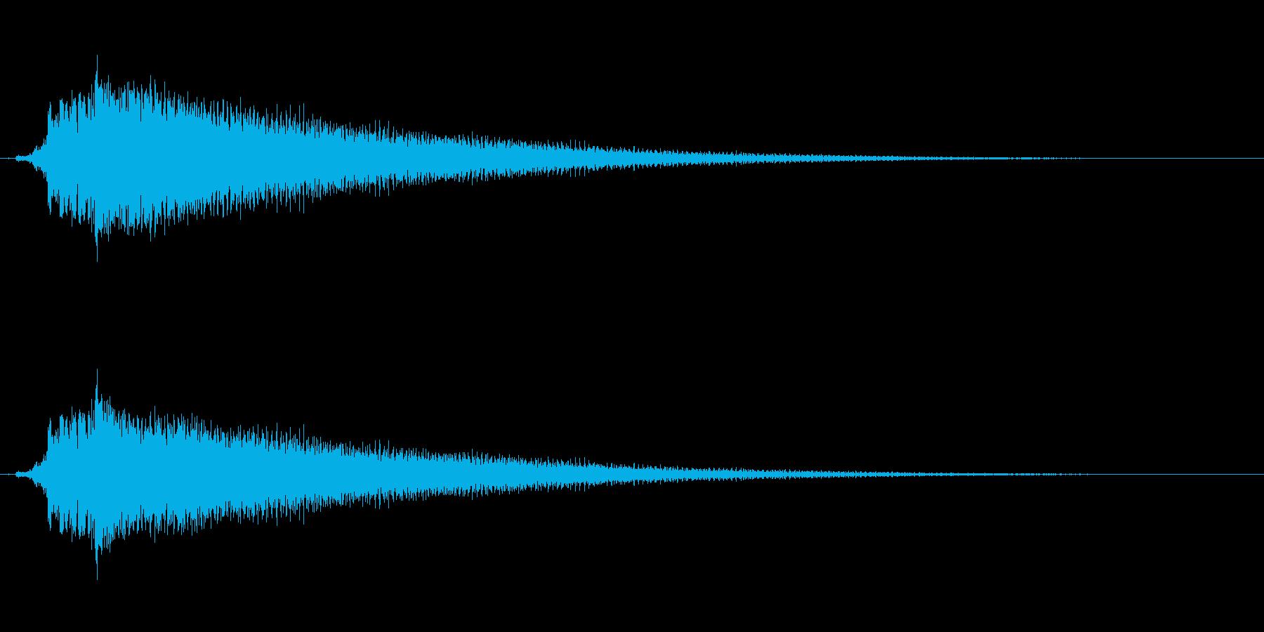 アコギのハーモニクス。決定音など。の再生済みの波形