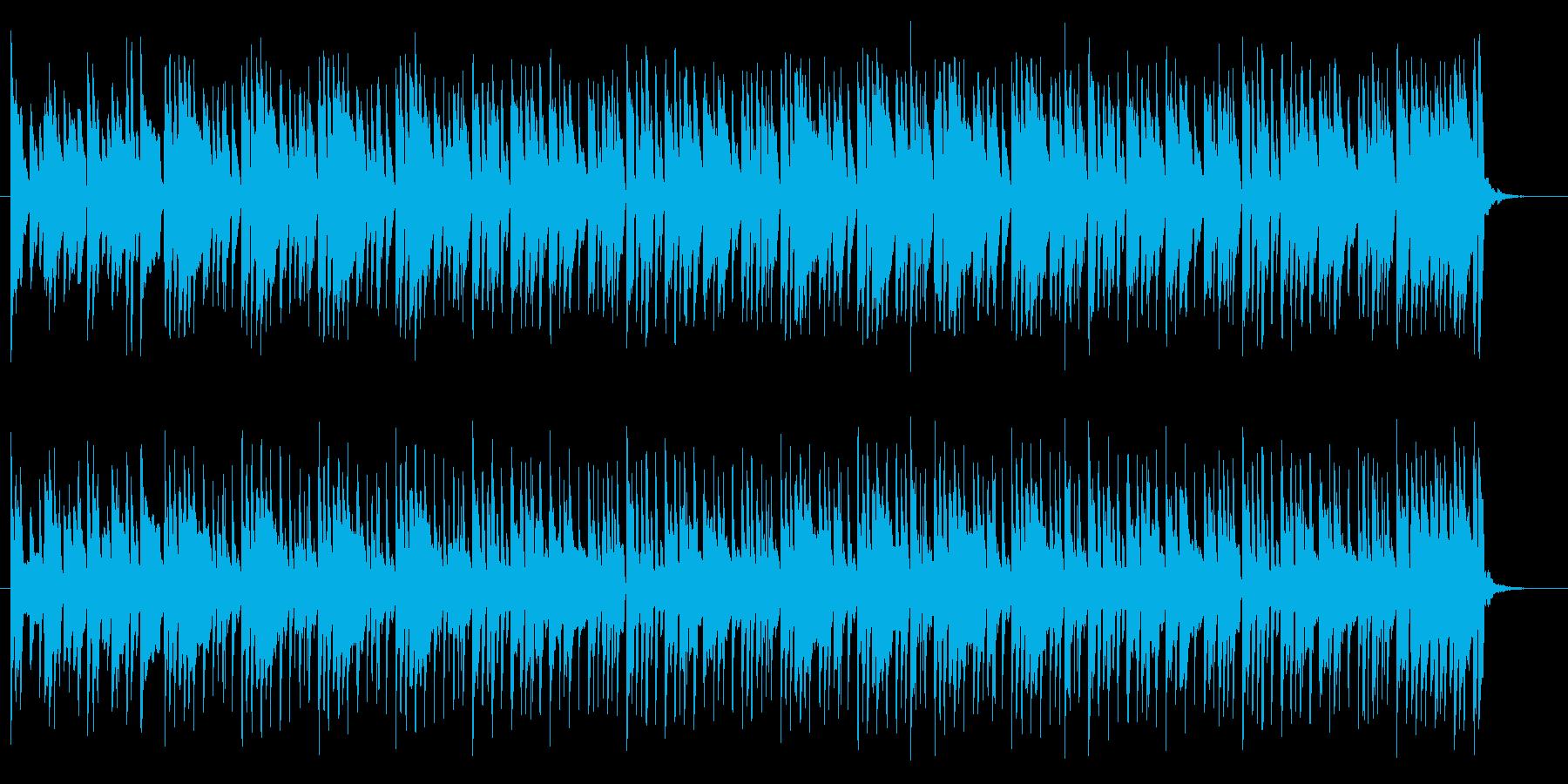 わくわく感とおしゃれなシンセサウンドの再生済みの波形