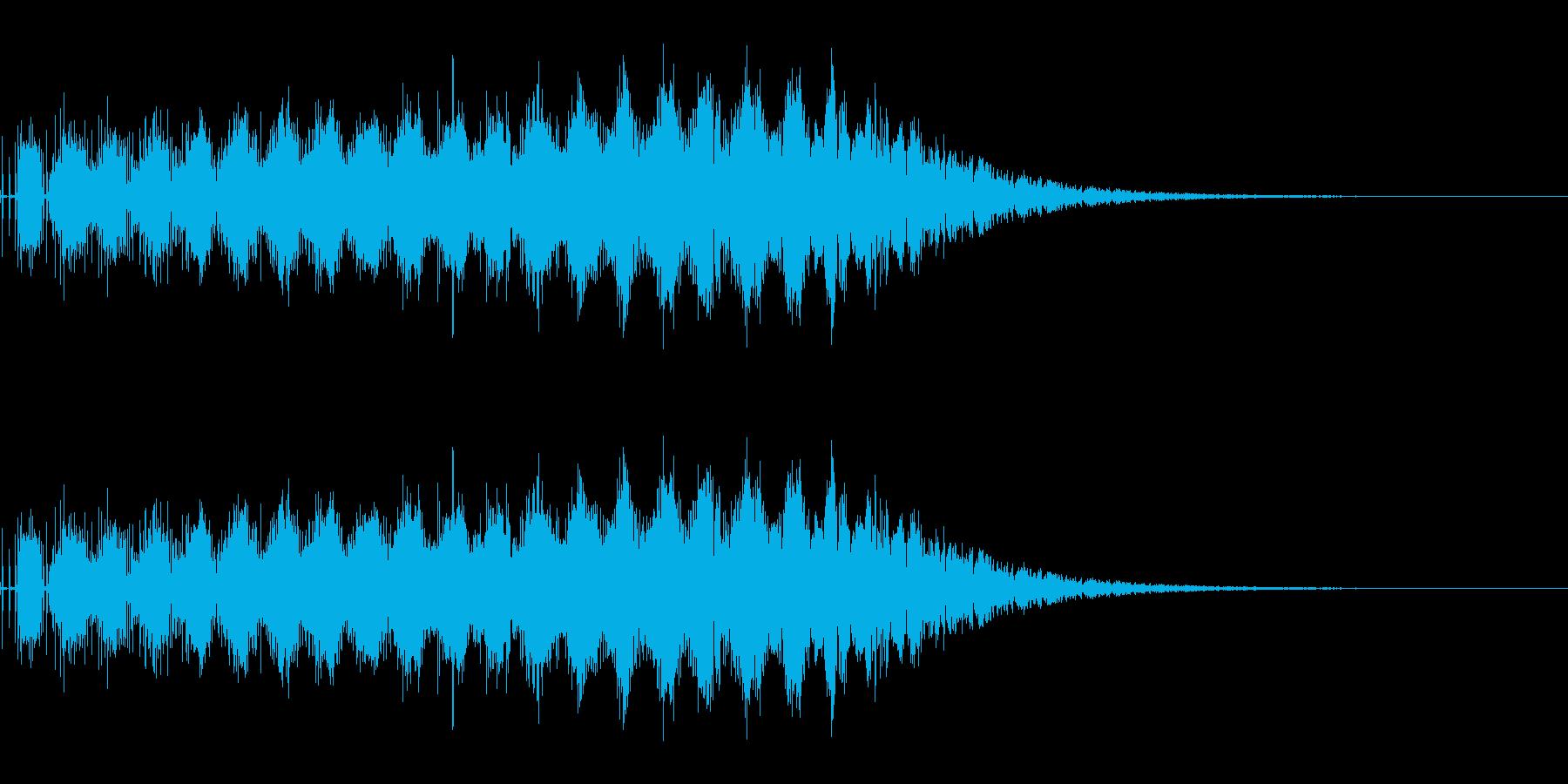少し力を溜めてビーム発射(SF/宇宙)の再生済みの波形